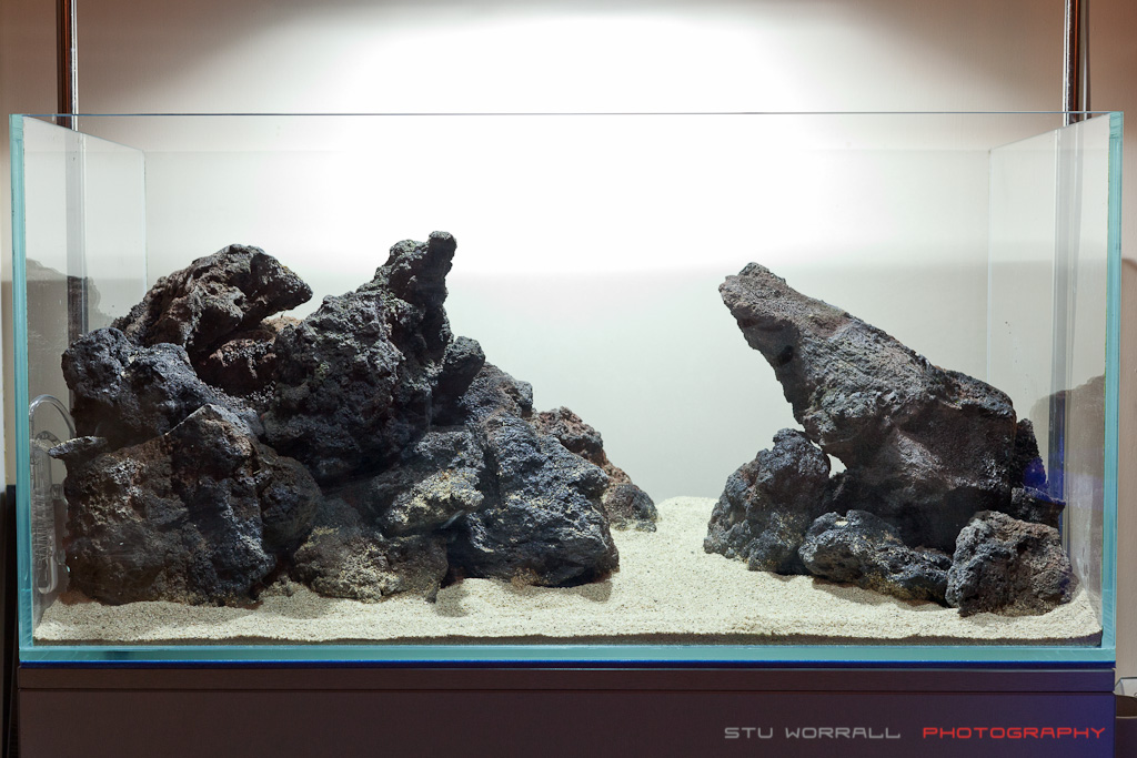 90x45x45cm unknown name aquascaping world forum for Lava rock fish tank